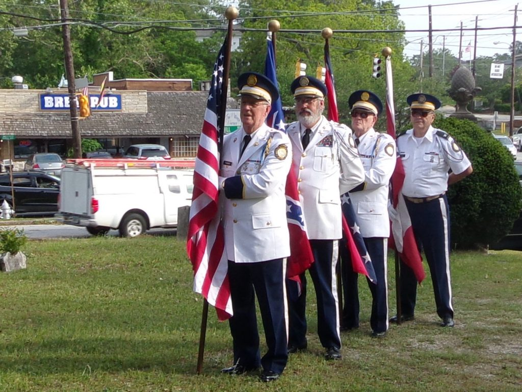 Stone Mountain Confederate Memorial Cemetery Sat., 29 April. Old Guard Color Guard, COL Richard Daniel, COL Robert Powers, MAJ Otis Farmer, and LTC Ross Glover.