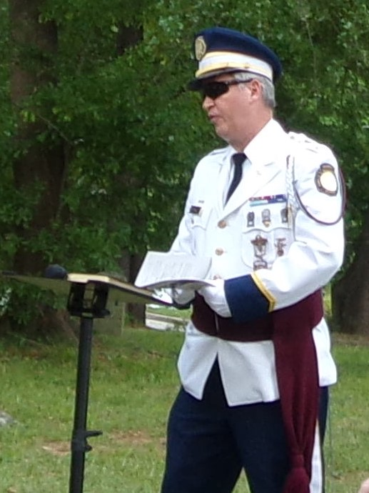 Stone Mountain Confederate Memorial Cemetery Sat., 29 April, Commandant Richard Straut at podium.