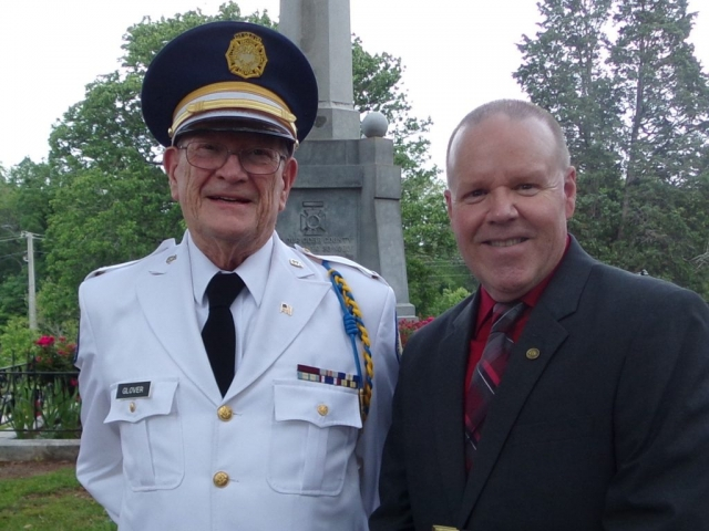 At the Marietta Memorial ceremony LTC Ross Glover with Michael Schaffer, historian and author.