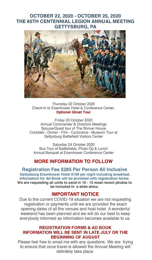 85th Centennial Legion Annual Meeting